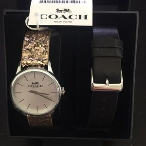 Coach Ruby Stainless Steel Sparkle Glitter Watch